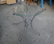 ガラス天板ミニテーブル