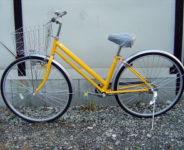 カジュアル自転車27インチ(イエロー)