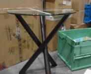 ガラスサイドテーブル