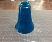 ガラスシェード ブルー