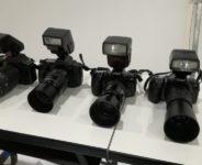 報道陣用カメラ